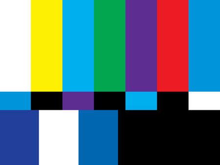 4:3 のアスペクトレシオのテレビ スクリーンはその番組の放送からの空気オフです。