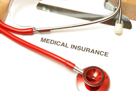 private insurance: A medical insurance form for when you need it the most. Stock Photo