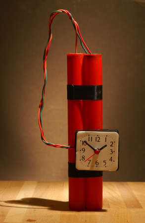 human time bomb: Time is ticking on this bomb ready for destruction.