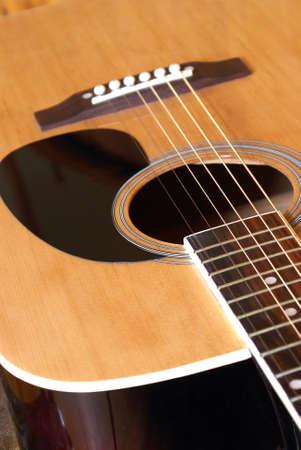 A closeup shot of an acoustic guitar. Stock Photo - 16401255