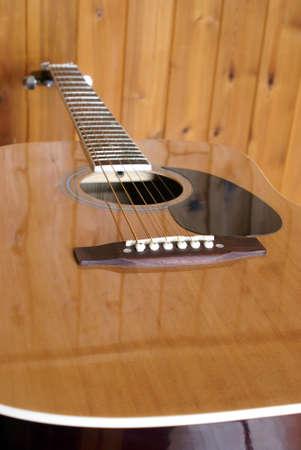 A closeup shot of an acoustic guitar. Stock Photo - 16834428