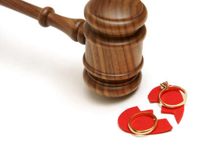 divorce court: A concept based on the legalities of divorce. Stock Photo