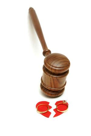 離婚の合法性に基づいたコンセプト。