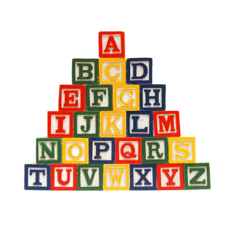 The alphabet in order from top to bottom for easy learning at a young age. photo