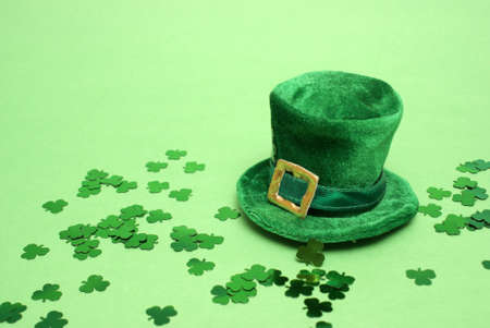 st  patricks: A nice St Patricks day lucky hat for everyopne to celebrate. Stock Photo