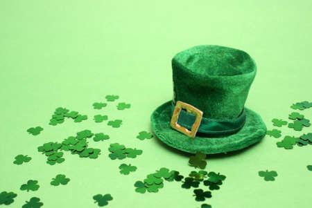 celtic shamrock: A nice St Patricks day lucky hat for everyopne to celebrate. Stock Photo