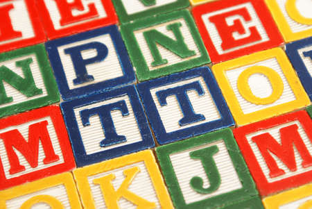 A closeup shot of educational blocks for the young mind to learn the alphabet. Stock Photo - 17592426