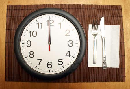 この時計を適切な時期にヘルシーなランチを食べに思い出させる。