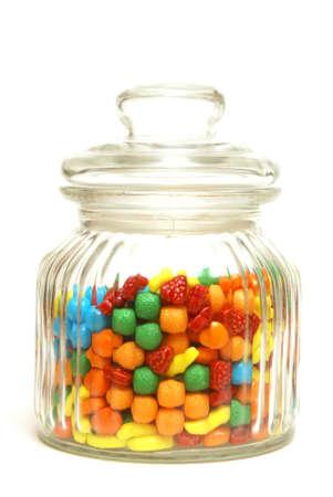 cliche': A variety of tasty candies in cliche candy jar.