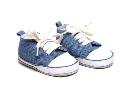 A pair of denim baby shoes for any mothers new born son.