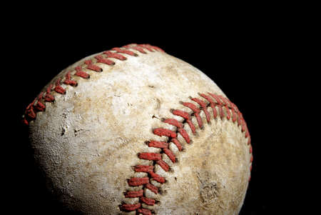 hardball: A low key shot of an old hardball for a great summer activity. Stock Photo