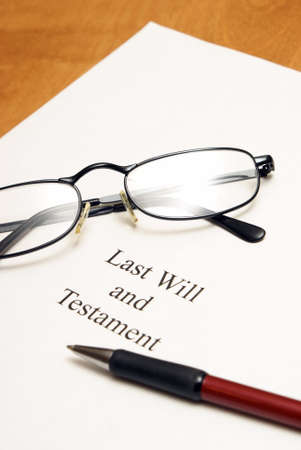 A will agreement for the deceased ones final arrangements. photo