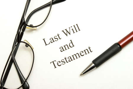 decease: A will agreement for the deceased ones final arrangements.