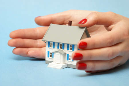 guard house: A professional woman ensures that your property is covered by good hands.