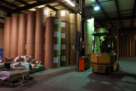 Inside view of a warehouse storage center.  Some grain in picture due to higher iso and longer exposure from low lighting. photo