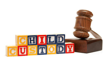 divorce court: A group of isolated objects in regards to the concept of child custody.