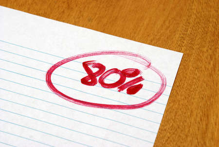 grading: A fair test result for an achieving student.