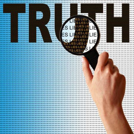 Creuser plus profondément la vérité de cette personne ne trouve rien que des mensonges.