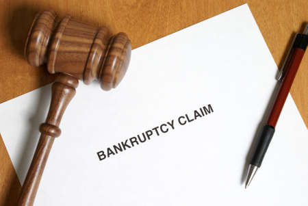 finanical: Its never in anyones agenda to claim bankruptcy however sometimes its the only way out. Stock Photo