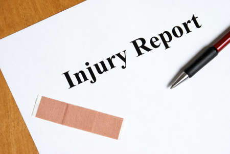 Nobody ever wants to fill out an injury report until the moment its needed for liability piurposes. photo