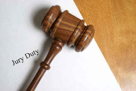 jury: A member of the community has been selected for jury duty.