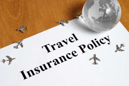 travel agent: Peace of mind comes with the purchase of travel insurance. Stock Photo