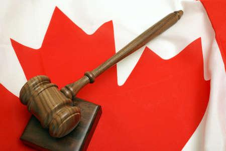 Een concept gebaseerd op het Canadese rechtssysteem Stockfoto