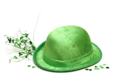 and tradition: A lucky green hat to celebrate the festive saint patricks day tradition  Stock Photo