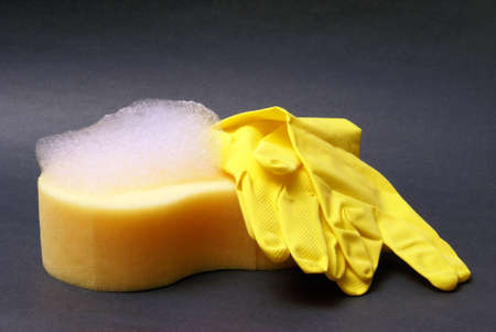 A sponge gets the job done during cleanup.