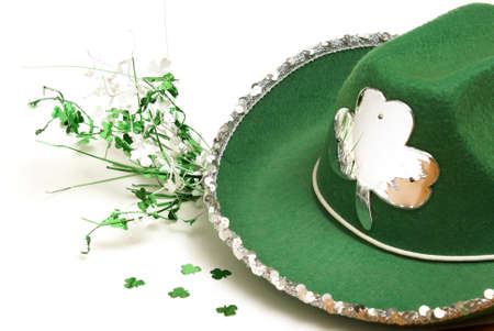 A lucky green hat to celebrate the festive saint patricks day tradition. photo