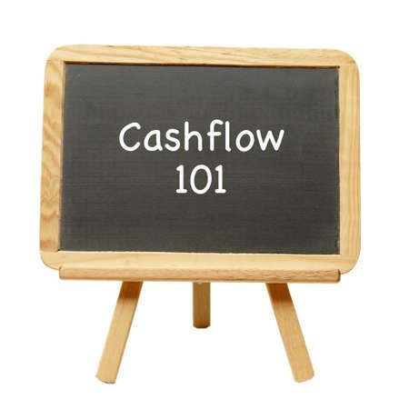 cashflow: El arte de flujo de efectivo de aprendizaje descibed en una pizarra.