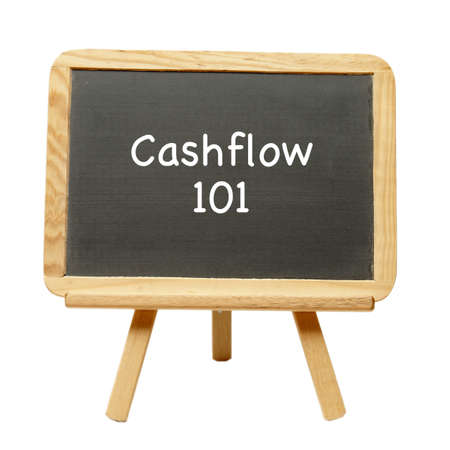 cashflow: The art of learning cashflow descibed on a chalkboard.