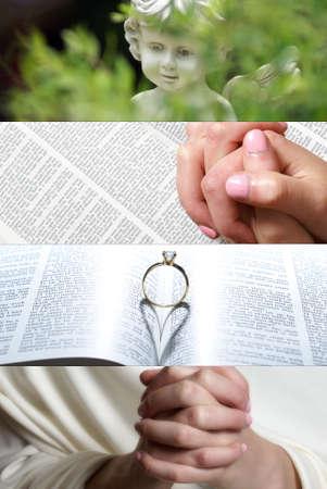 A collage based on the faith of gospel.