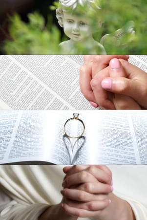 fidelidad: Un collage basado en la fe del evangelio.