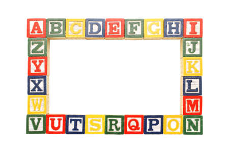 english letters: An alphabet frame for inserting your pictures or copy.