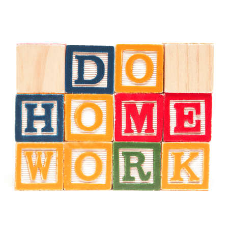 block note: A message to those needing to do home work.