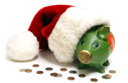 A conceptual financial shot of saving money for the holidays. photo