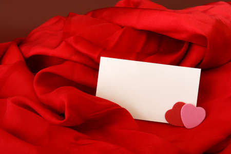 notecard: A blank notecard placed within a romantic scene.