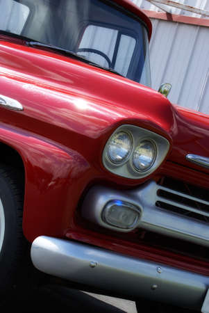 restored: A beautifully restored truck parked outside in the nice sunshine.