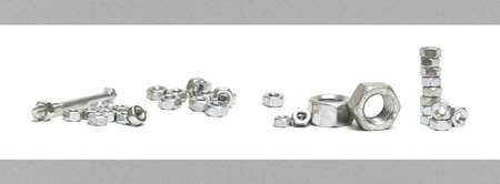 constructive: Many constructive nuts make a nice large border type frame for industrial useage in your designs. Stock Photo