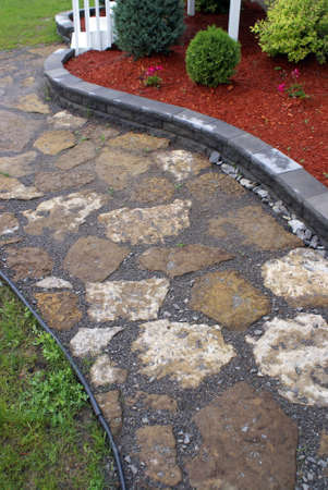 well made: A well designed footpath made of natural stones.
