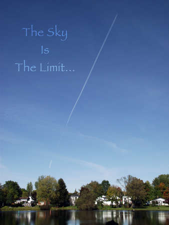 An ideom photo based on the saying the sky is the limit.