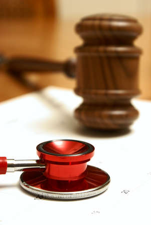 come in: Medical and legal systems come together in this still life.