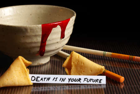 A grim fate reveals itself in this fortune cookie.