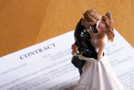 Concept based on the legalities of marriage. Stock Photo