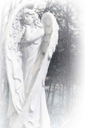 A beautiful garden angel set in stone to offer guidance and protection.