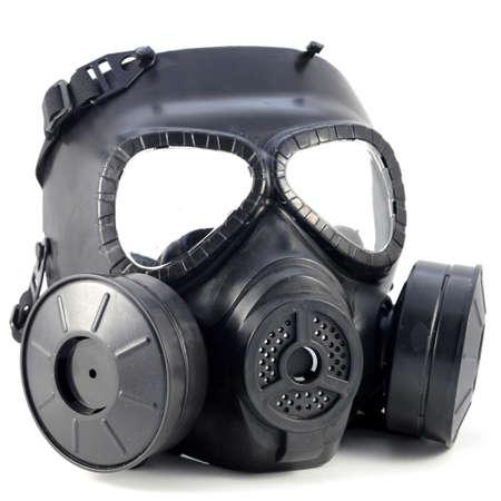Un tir isolé d'un masque à gaz pour une utilisation dans la guerre moderne.