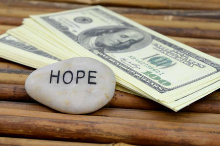 An affirmation to be hopeful in wealth and abundance.