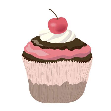 chocolate mousse: Chocolate cupcake