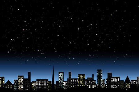 Night city light Vector